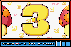 Super Mario Advance 4 - Super Mario Bros. 3 - 10 UP! WOO - User Screenshot